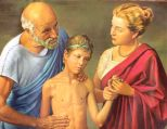 "Hippocrates, ""The Father of Medicine,"" and his school on the Greek isle of Cos, left a body of writings that was used as authoritative throughout the Mediterranean for over a millenium. http://www.blatner.com/adam/consctransf/historyofmedicine/1-overview/brief.html"